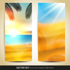 Collection of summer banners