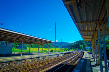 田舎駅の風景[Rural stations scenery]