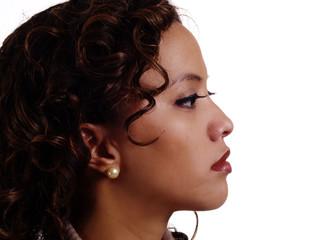 Portrait Profile Filipino Hispanic Woman Attractive Young