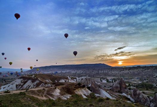 air balloon flying Cappadocia