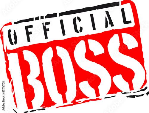 Cool Official Boss Graffiti Stamp Design