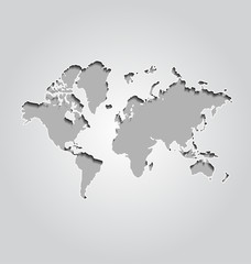 World map on gray background