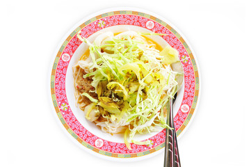 """KaNom jeen"" Thai food Noodles coconut milk curry"