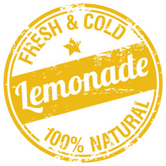 lemonade rubber stamp