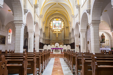 Church of St. Catherine interior at the Church of Nativity compl