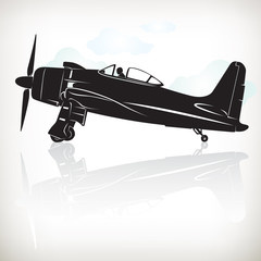 plane in silhouette 0091