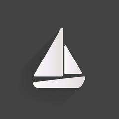 Sailboat, ship icon.