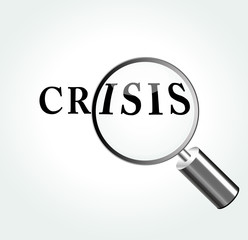 Vector crisis concept illustration