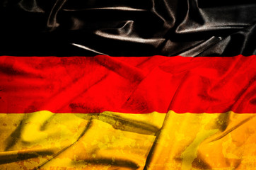 Germany grunge flag on a silk drape