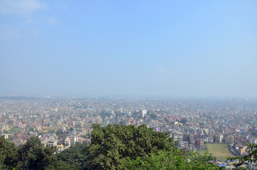 View point Cityscape of Kathmandu Nepal