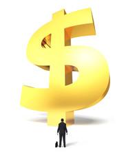 Growing dollar sign