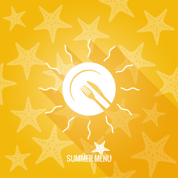summer menu design background