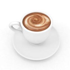 mug on a white