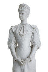 Isolated statue of Empress Elisabeth II from Austria in Corfu at