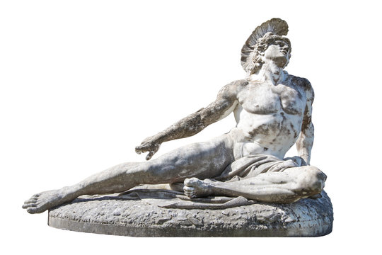 Sculpture of dying Achilles in the Achilleion in Corfu