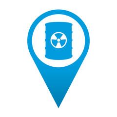 Icono localizacion simbolo bidon de residuos