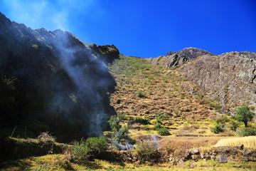 Mountain landscape in Cordiliera Huayhuash, Peru, South America