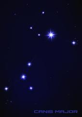 Canis major star constellation
