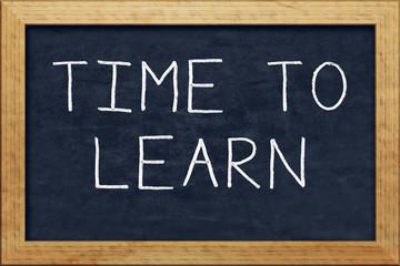 chalkboard time to learn