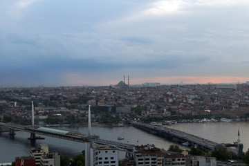 landscape Golden Horn in Istanbul. Turkey