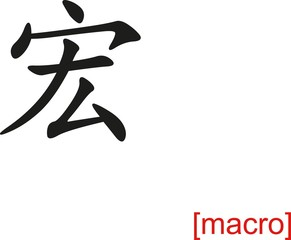 Chinese Sign for macro