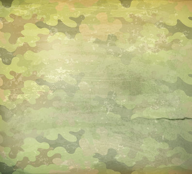 Camouflage old style background, vector