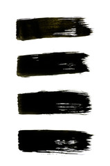 black abstract hand painted watercolor background
