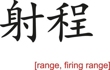 Chinese Sign for range, firing range