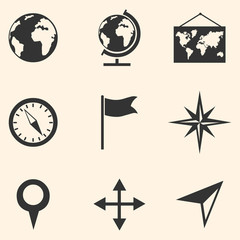 Vector Set of  Geography Icons.