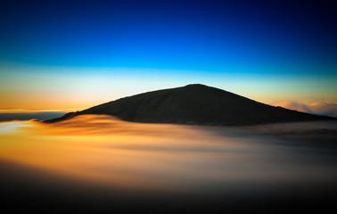 Sunset volcano.