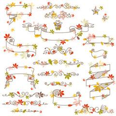 Vector Illustration of Autumn Design Elements