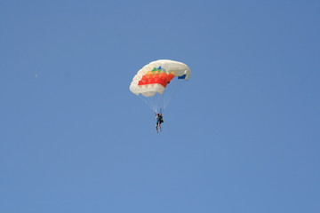 Skydiver Parachute Open, Sky, Adrenaline