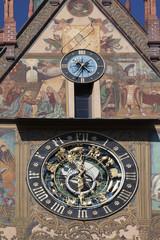 Wall Mural - Rathaus Ulm Uhr