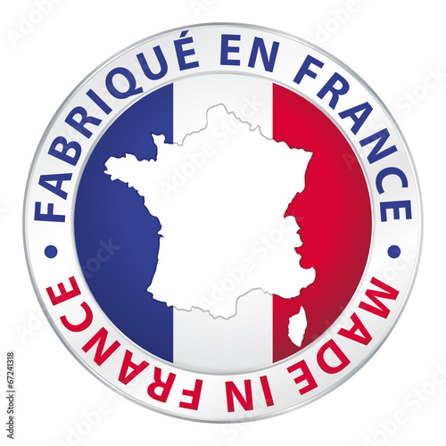 fabriqu en france made in france flag icon button. Black Bedroom Furniture Sets. Home Design Ideas