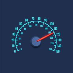 Speedometer simple icon