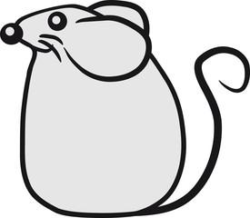 Kleines niedliches süßes Mäuschen
