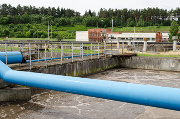 waste sewage water aeration basin bubble