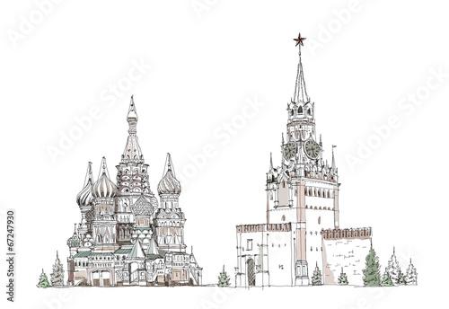 Раскраски спасская башня кремля