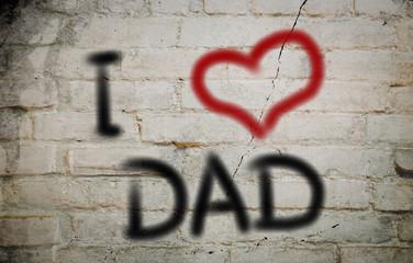 I Love Dad Concept