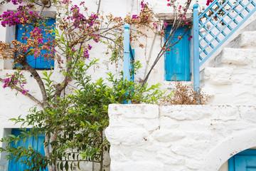 Fototapete - Griechische Bauweise auf den Kykladen