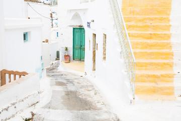 Fototapete - Typisch griechischer Baustil auf den Kykladen