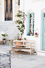 Fototapete - Architektur - Fassade auf der griechischen Insel Serifos