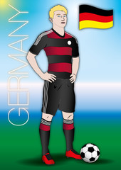 germany soccer player uniform