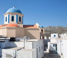 Fototapete - Kirche von Serifos in den Kykladen.