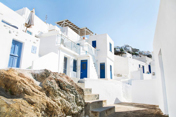 Fototapete - Griechische Häuser auf Serifos auf den Kykladen