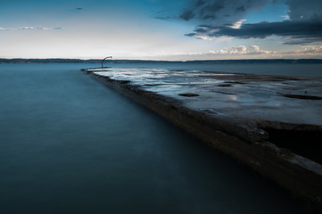 Photo sur Aluminium Bleu jean paysage