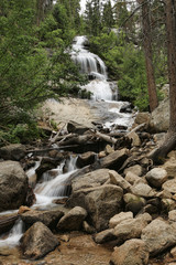Beautiful Waterfall at Mount Whitney in California