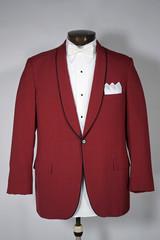 Vintage Red Tuxedo Tux Jacket Coat Shawl Collar Men's Fashion