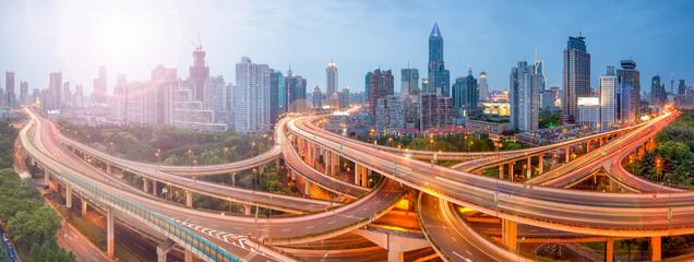 Shanghai Verkehr Fotomurales