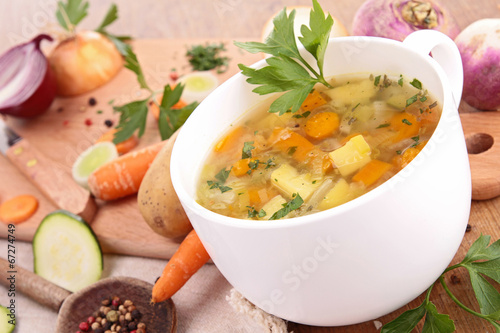Wall mural vegetable soup
